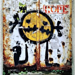 Grafitti aus Portugal mit Hope, Charlie…